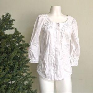 DVF Cotton 3/4 sleeve blouse